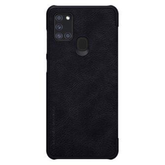Samsung A21S kaaned nahast kaarditaskuga Nillkin Qin must 11