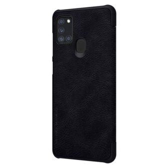 Samsung A21S kaaned nahast kaarditaskuga Nillkin Qin must 2