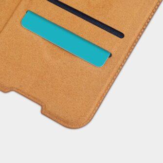 Samsung A21S kaaned nahast kaarditaskuga Nillkin Qin must 5