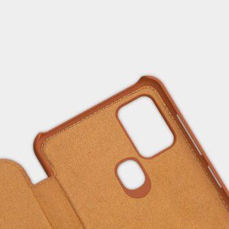 Samsung A21S kaaned nahast kaarditaskuga Nillkin Qin must 6