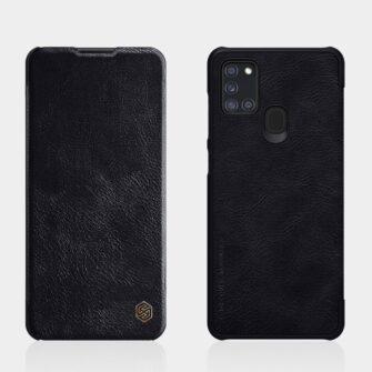 Samsung A21S nahast kaaned kaarditaskuga