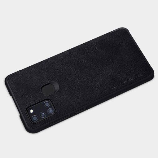 Samsung A21S kaaned nahast kaarditaskuga Nillkin Qin must 9