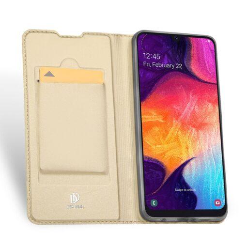 Samsung A50 kaaned nahast kuldset värvi 3