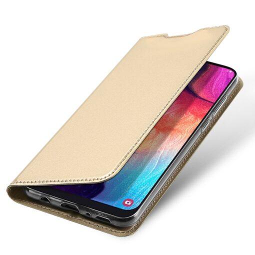 Samsung A50 kaaned nahast kuldset värvi 4
