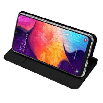 Samsung A50 kaaned nahast musta värvi 2