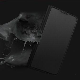 Samsung A50 kaaned nahast musta värvi 4