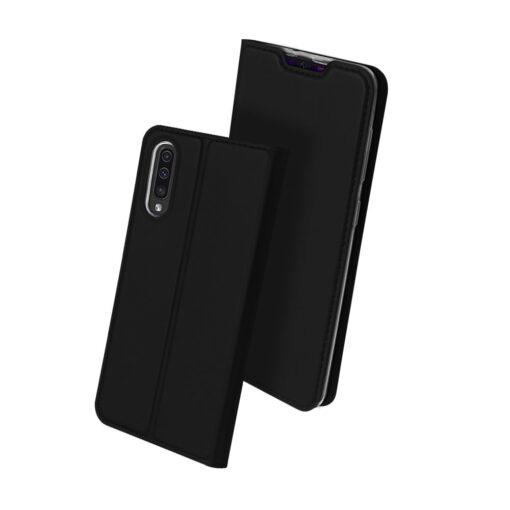 Samsung A50 kaaned nahast musta värvi