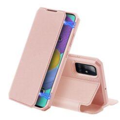 Samsung A51 kaaned roosat värvi kunstnahast