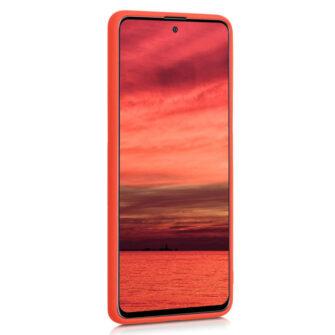Samsung A51 silikoonist ümbris punane eest