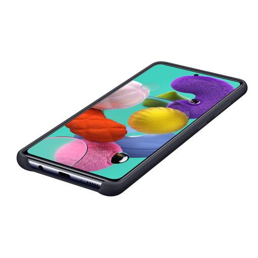 Samsung A71 silikoonist ümbris musta värvi eest 2
