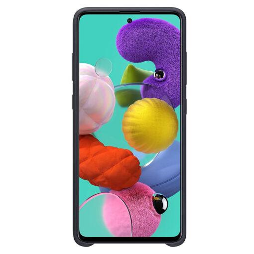 Samsung A71 silikoonist ümbris musta värvi eest