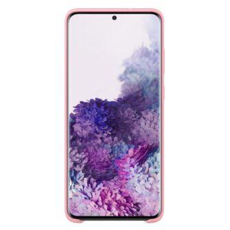Samsung A71 silikoonist ümbris roosat värvi eest