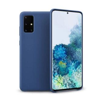 Samsung A71 silikoonist ümbris sinist värvi eest
