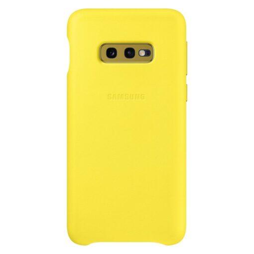 Samsung S10e originaal nahast kaaned kollane EF-VG970LYEGWW