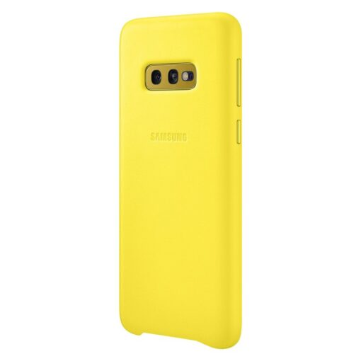 Samsung S10e originaal nahast kaaned kollane EF VG970LYEGWW 2