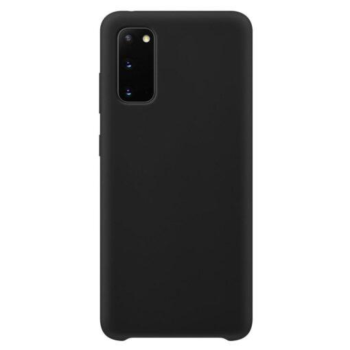 Samsung S20 ümbris silikoonist musta värvi