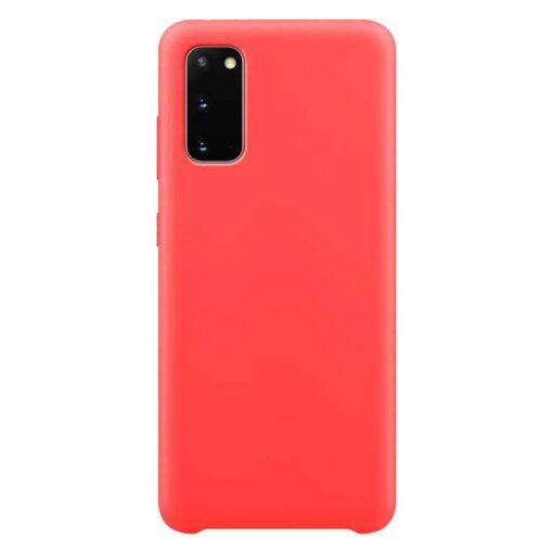 Samsung S20 ümbris silikoonist punane