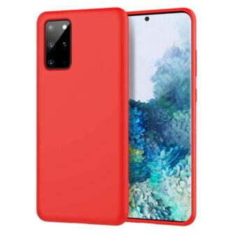 Samsung S20 ümbris silikoonist punast värvi eest ja tagant