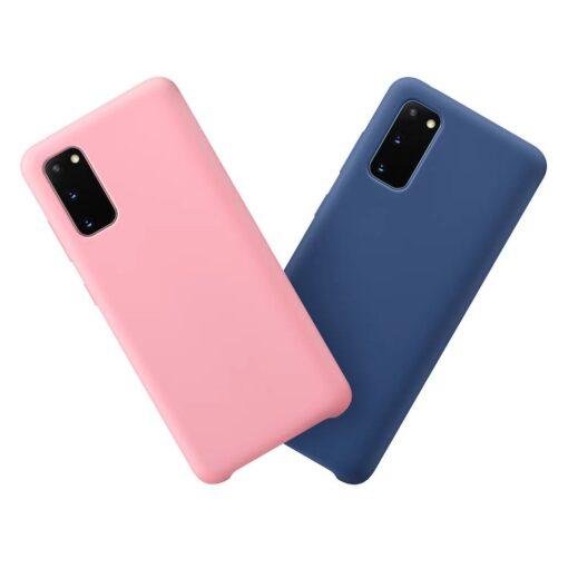 Samsung S20 ümbris silikoonist roosa värvi koos