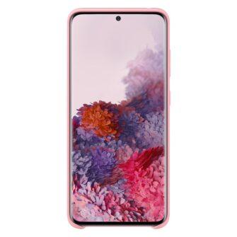 Samsung S20 ümbris silikoonist roosat värvi eest