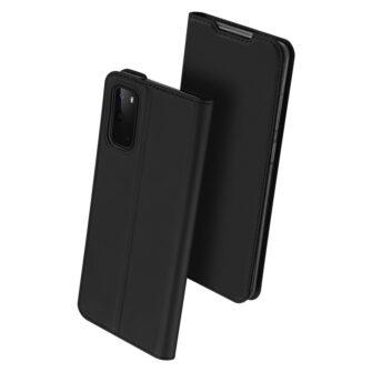 Samsung S20 kaaned kaarditaskuga musta värvi