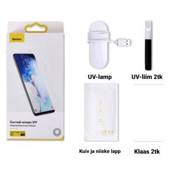 Samsung S20 kaitseklaas Galaxy UV Baseus pakendis