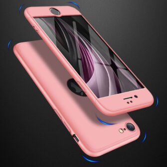 eng pl GKK 360 Protection Case Front and Back Case Full Body Cover iPhone SE 2020 pink 61216 5