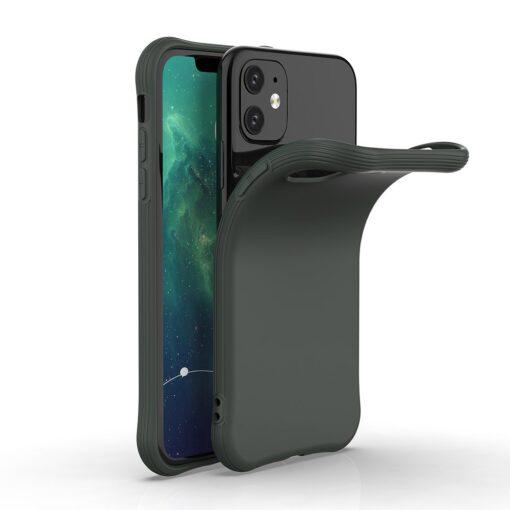 iPhone 11 ümbris silikoonist tumeroheline 2