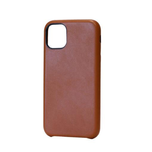 iPhone 11 Pro Max ümbris kunstnahast pruun väljast