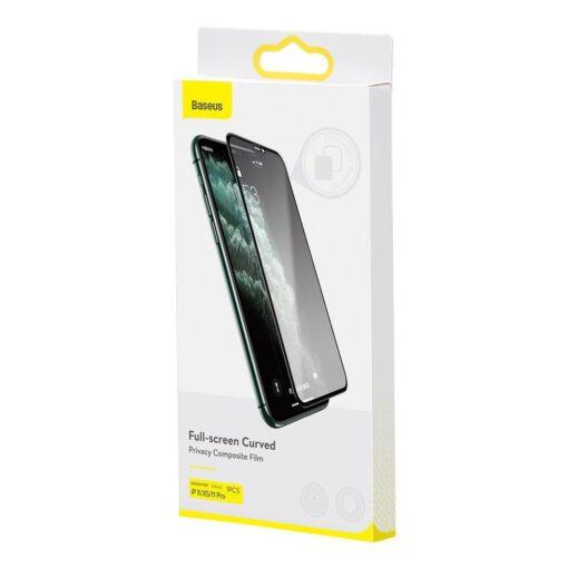 iPhone 11 Pro kaitseklaas privaatsusfiltriga täisekraan 14