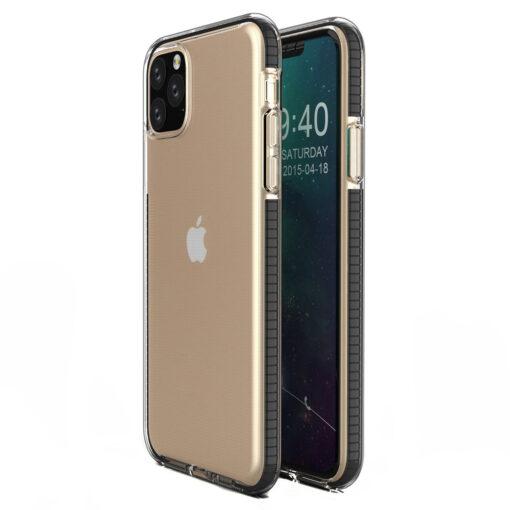 iPhone 11 Pro silikoonist ümbris musta raamiga