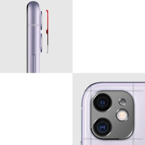 iPhone 11 kaamera kaitse Ringke hõbedane 4