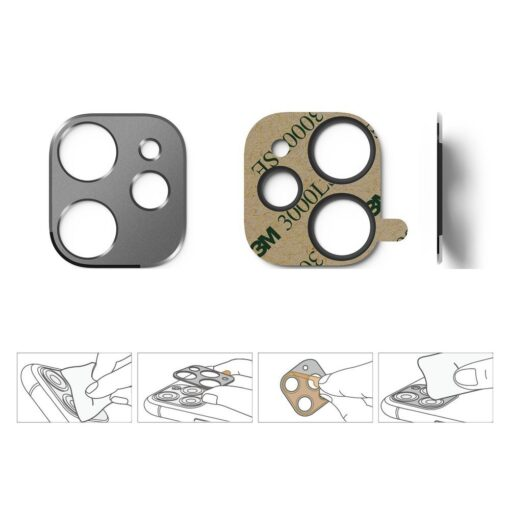 iPhone 11 kaamera kaitse Ringke hõbedane 5
