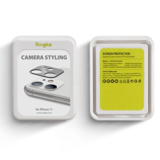 iPhone 11 kaamera kaitse Ringke hõbedane 6