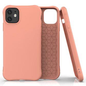 iPhone 11 kaitseümbris silikoonist roosa