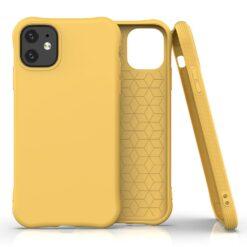 iPhone 11 kaitseümbris silikoonist kollane põrutuskindel