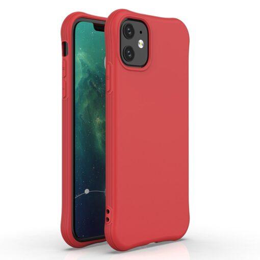 iPhone 11 kaitseümbris silikoonist punane põrutuskindel