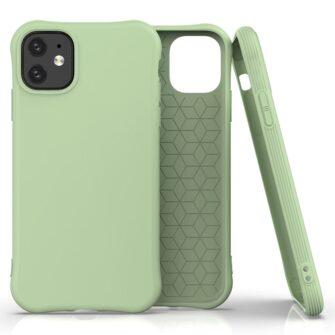 iPhone 11 kaitseümbris silikoonist roheline