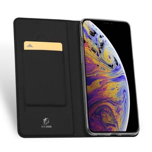 iPhone 11 nahast kaaned kaarditaskuga DUX DUCIS kunstahast must 2