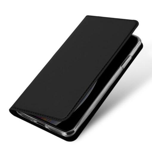 iPhone 11 nahast kaaned kaarditaskuga DUX DUCIS kunstahast must 3