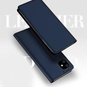 iPhone 11 nahast kaaned kaarditaskuga DUX DUCIS kunstahast must 5