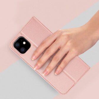 iPhone 11 nahast kaaned kaarditaskuga DUX DUCIS kunstahast must 6