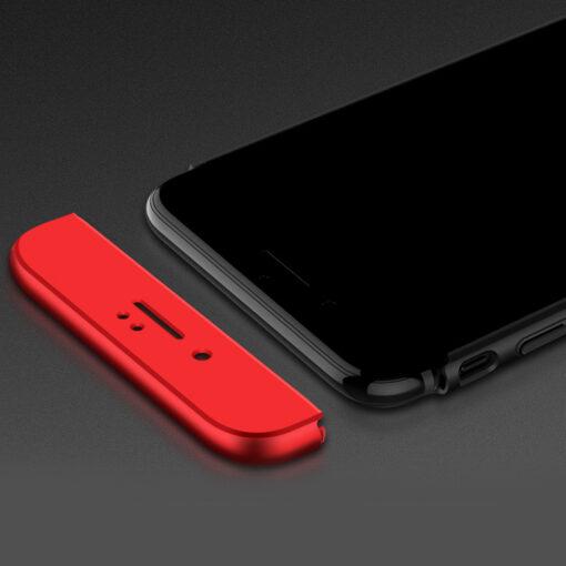 iPhone 8 360 plastikust ümbris must punane 2