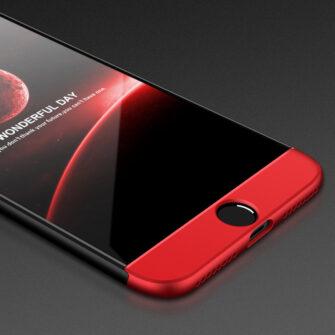 iPhone 8 360 plastikust ümbris must punane 3