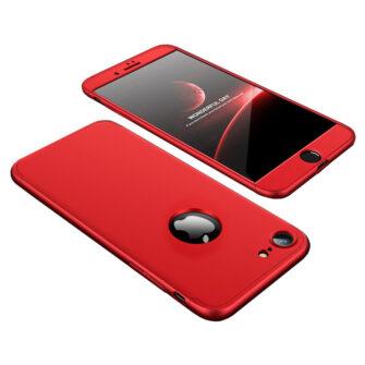 iPhone 8 360 plastikust ümbris punane