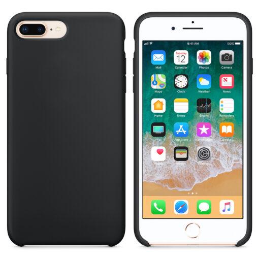 iPhone 8 Plus silikoonist kaaned musta värvi eest tagant