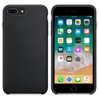 iPhone 8 Plus silikoonist kaaned musta värvi eest tagant must