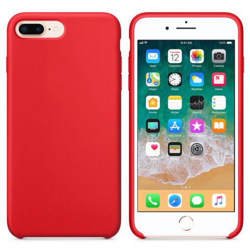 iPhone 8 Plus silikoonist kaaned punast värvi eest tagant