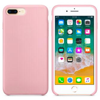 iPhone 8 Plus silikoonist kaaned roosat värvi eest tagant must