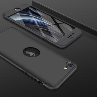 iPhone SE 2 360 kaaned plastikust musta värvi 8